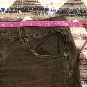 Free People Shorts - Free People Olive Denim Cutoff Shorts